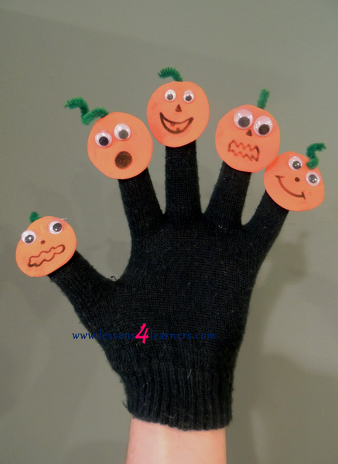 Five Little Pumpkins Finger Play