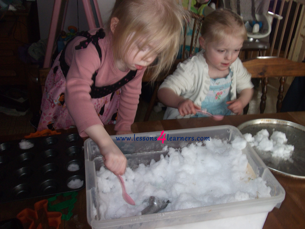 Snow Day Sensory Play