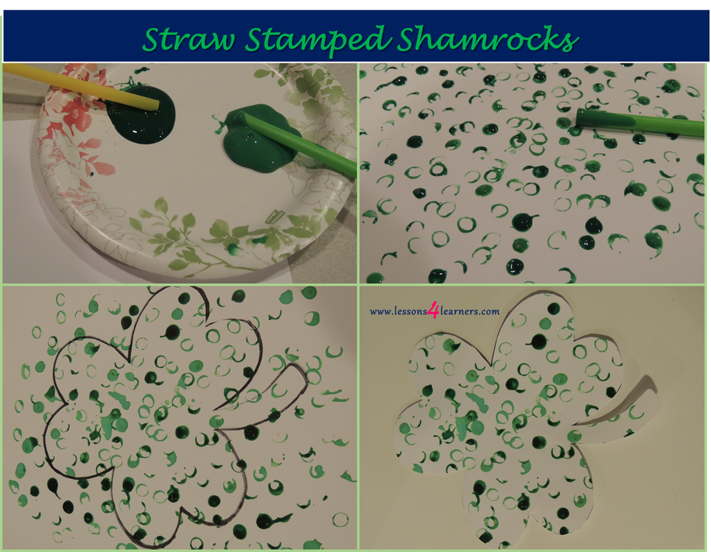 Straw Stamped Shamrocks