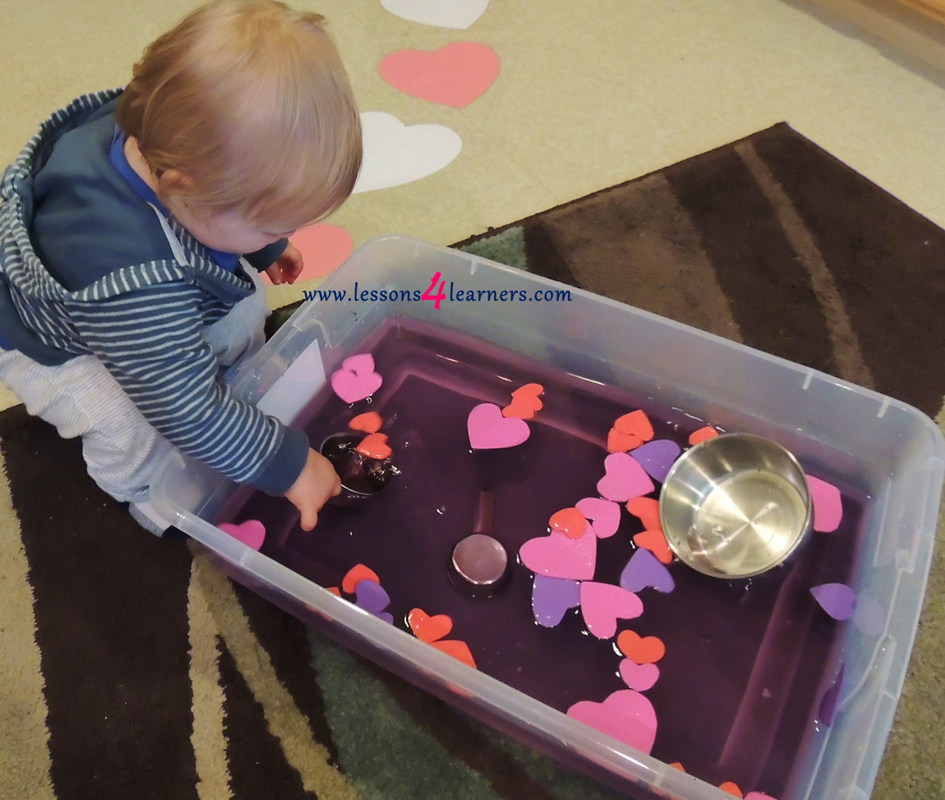 Love Potion Sensory Table